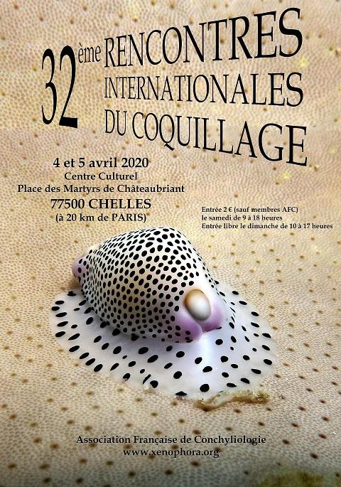 Affiche des Rencontres Internatioanles du Coquillage 2020 à Chelles.