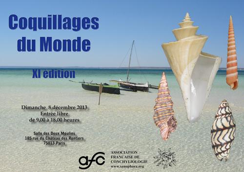 French conchologist association website shell show detail for Adresse paris expo
