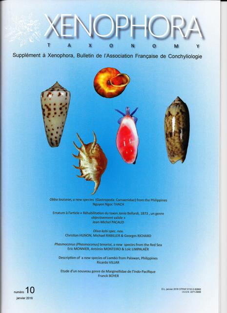 Couverture du Xenophora Taxonomy n°10.
