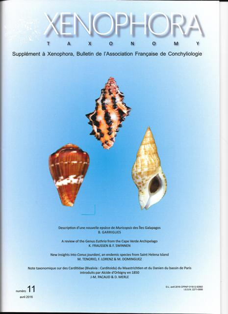 Couverture du Xenophora Taxonomy n°11.