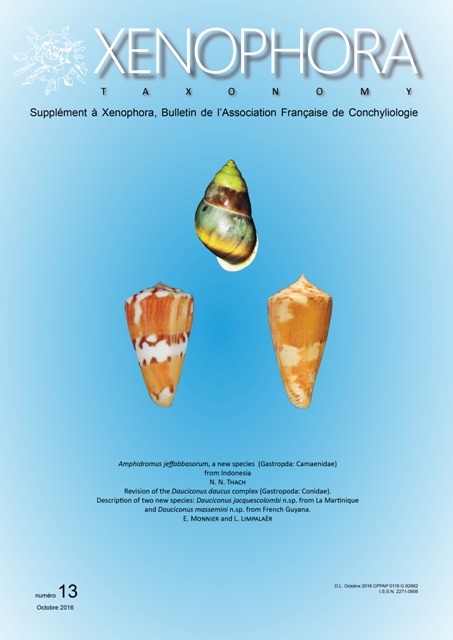 Couverture du Xenophora Taxonomy n°13.