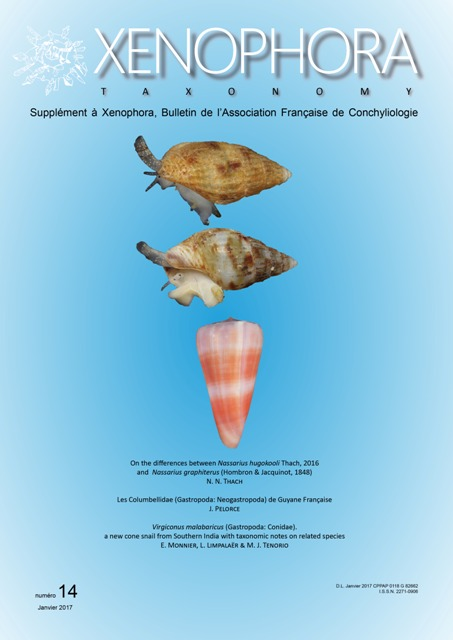 Couverture du Xenophora Taxonomy n°14.