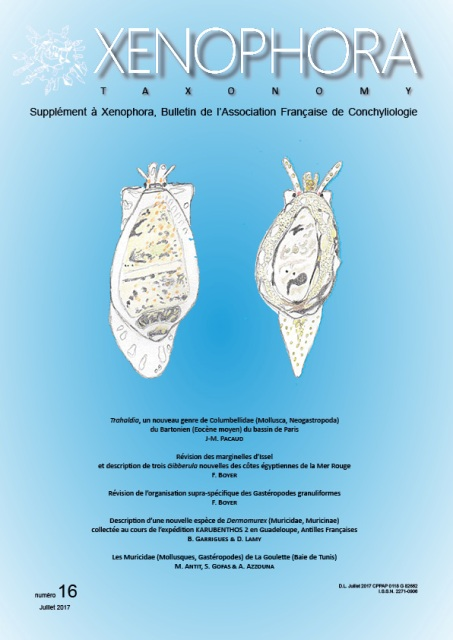 Couverture du Xenophora Taxonomy n°16.