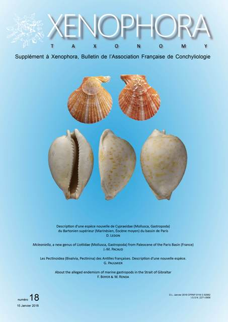 Couverture du Xenophora Taxonomy n°18.
