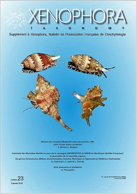 Couverture du Xenophora Taxonomy n°23.