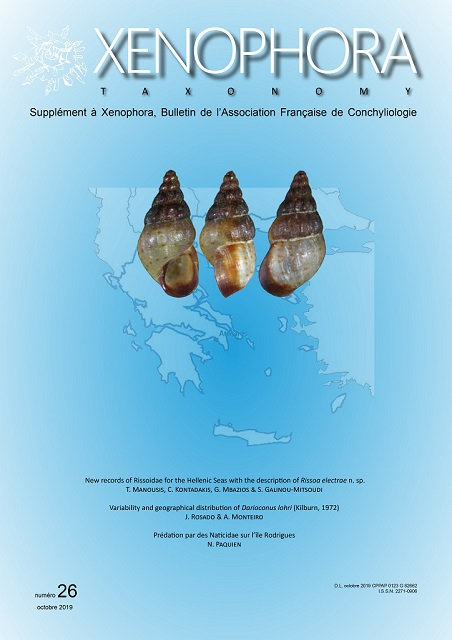Couverture du Xenophora Taxonomy n°26.