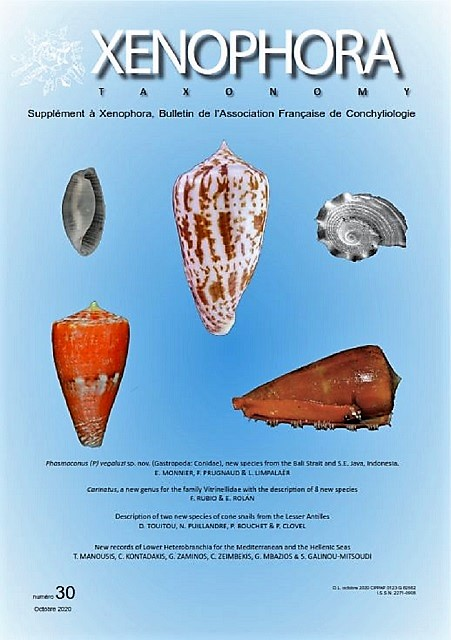Couverture du Xenophora Taxonomy n°30.