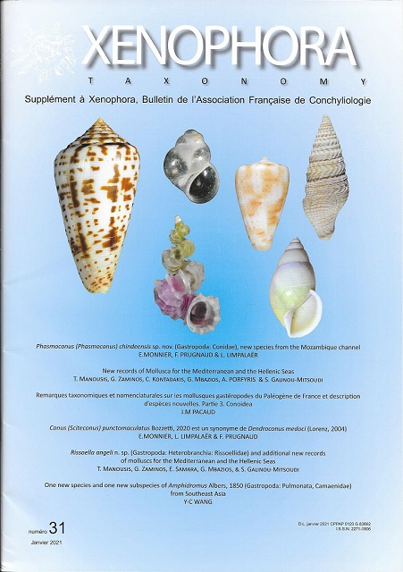 Couverture du Xenophora Taxonomy n°31.
