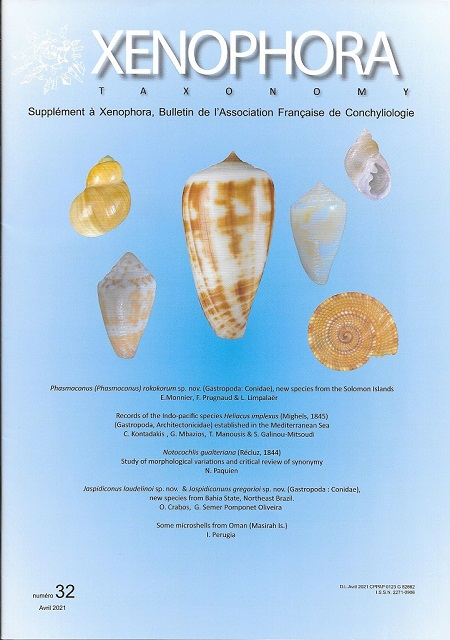 Couverture du Xenophora Taxonomy n°32.